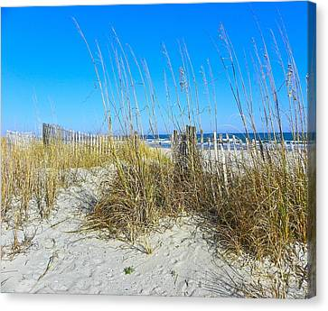 Canvas Print featuring the photograph Relaxing By The Sea by Eve Spring