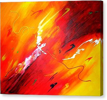 Canvas Print featuring the painting Release by Mary Kay Holladay