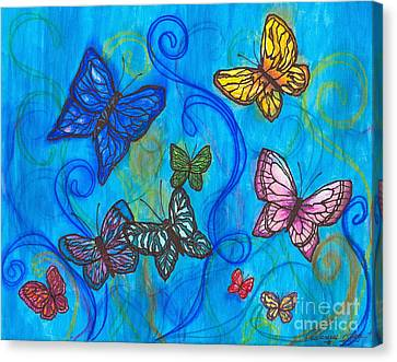 Releasing Butterflies II Canvas Print by Denise Hoag