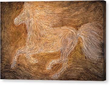 Impasto Horses Canvas Print - Relic by Amy Giacomelli