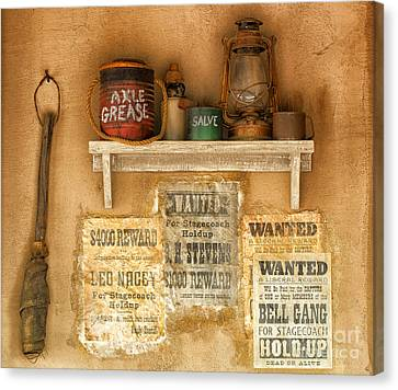 Relics Of The Old West Canvas Print by Sandra Bronstein