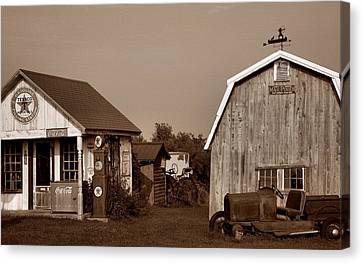Relics Of The Past Iv Canvas Print by Steven Ainsworth