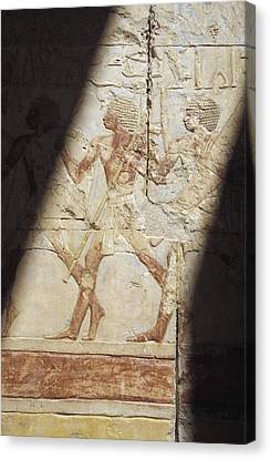 Reliefs At Hatshepsut Temple Canvas Print by Axiom Photographic