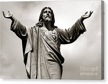 Religious Spiritual Christian Art Jesus  Canvas Print by Kathy Fornal