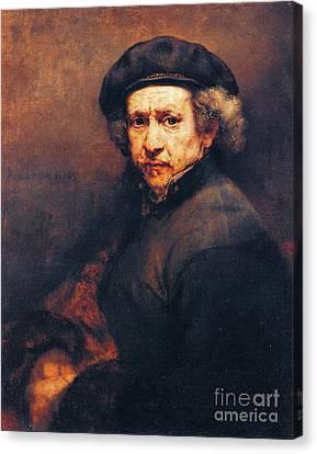 Rembrandt Self Portrait Canvas Print by Pg Reproductions