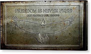 Remember Our Heros Canvas Print by Carrie OBrien Sibley