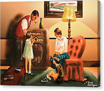 Remember When We Listened To The Radio Canvas Print by Frank SantAgata