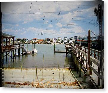 Remembering Wrightsville Beach Canvas Print by Joan Meyland