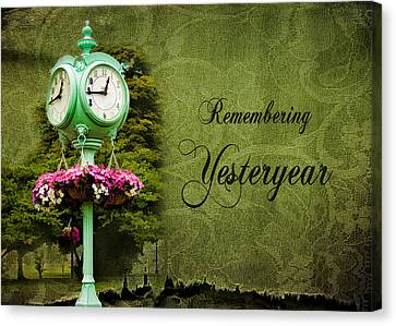 Remembering Yesteryear Canvas Print by Trudy Wilkerson