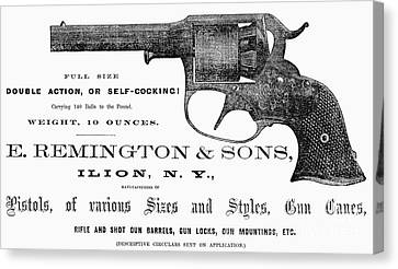 Remington Revolver Canvas Print by Granger