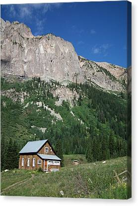 Remote Cabin Canvas Print by Linda Koester