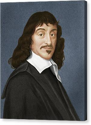 Rene Descartes, French Philosopher Canvas Print
