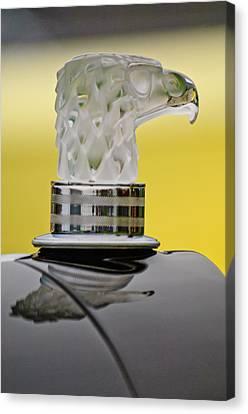 Rene Lalique Glass Eagles Head Hood Ornament Canvas Print