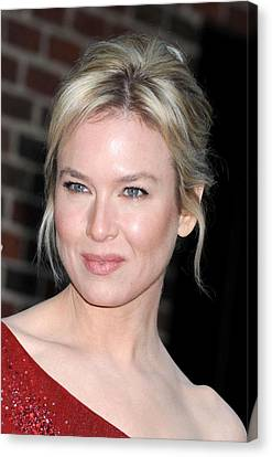 Renee Zellweger At Talk Show Appearance Canvas Print by Everett