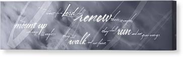 Renew Thy Strength Canvas Print by Elizabeth Rogers