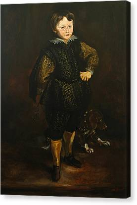 Replica Of Sir Anthony Van Dyck's Filippo Cattaneo Canvas Print by Tigran Ghulyan