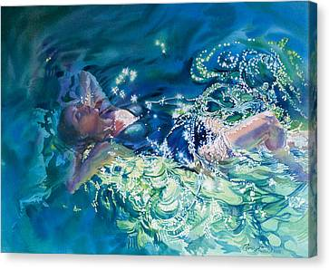 Repose In A Sunlit Pool Canvas Print