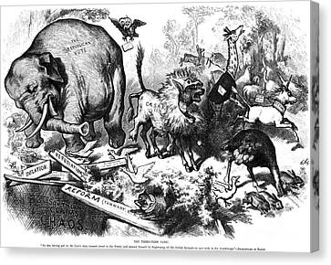 Republican Elephant, 1874 Canvas Print by Granger