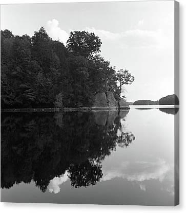 Reservoir Reflection Canvas Print by Adam Garelick