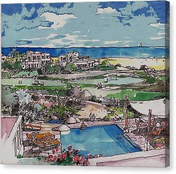 Resort Canvas Print
