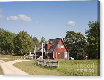 Resort Building In The Countryside Canvas Print by Jaak Nilson