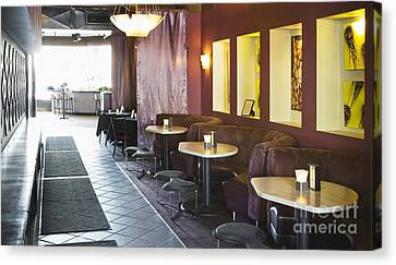 Restaurant Bar Seating Canvas Print by Andersen Ross