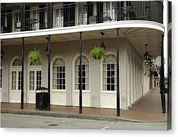 Canvas Print featuring the photograph Restaurant On Bourbon Street by Bradford Martin