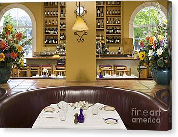Restaurant Table Canvas Print by Andersen Ross