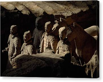Restored Terra-cotta Soldiers Lead Canvas Print by O. Louis Mazzatenta