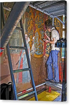 Restoring Art Canvas Print by Ann Horn