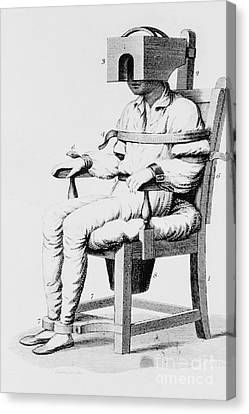 Psychiatric Patient Canvas Print - Restraining Chair 1811 by Science Source