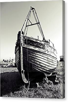 Retired Fishing Boat Canvas Print by Sharon Lisa Clarke