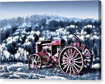 Retired Tractor Canvas Print by Suni Roveto