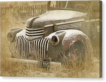 Retired Truck Circa 1924 Canvas Print