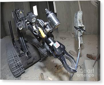 Retractable Arm Of Talon 3b Robot Canvas Print by Stocktrek Images