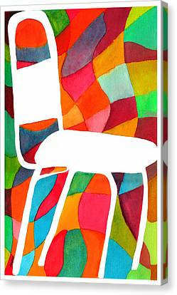 Retro Dinette Chair Canvas Print by Paula Ayers