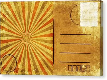 Retro Grunge Ray Postcard Canvas Print by Setsiri Silapasuwanchai
