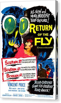 Return Of The Fly, Top Right Danielle Canvas Print by Everett