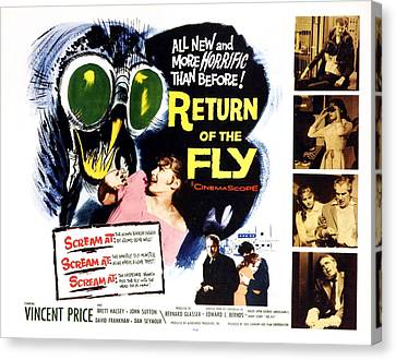 Return Of The Fly, Vincent Price, Ed Canvas Print by Everett