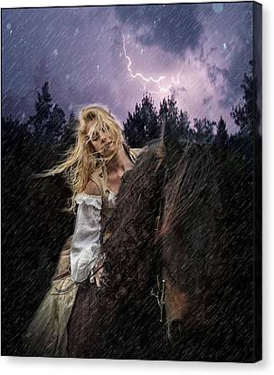 Return To Camelot Canvas Print by Sally Carpenter