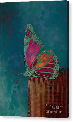 Reve De Papillon - S04bt02 Canvas Print by Variance Collections