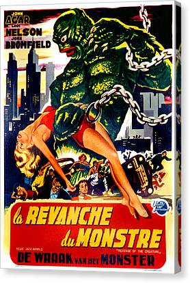 Revenge Of The Creature, Aka La Canvas Print by Everett