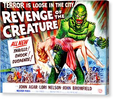 Revenge Of The Creature, Lori Nelson Canvas Print by Everett