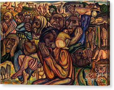 Revolt Of The Poor Canvas Print by Vladimir Feoktistov