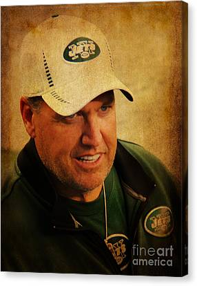 Rex Ryan - New York Jets Canvas Print by Lee Dos Santos