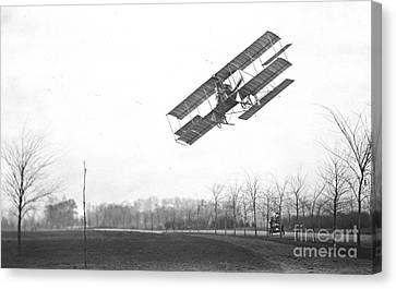 Rex Smith Biplane 1912 Canvas Print by Padre Art