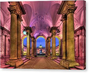 Rhapsody In Pink Canvas Print by Evelina Kremsdorf