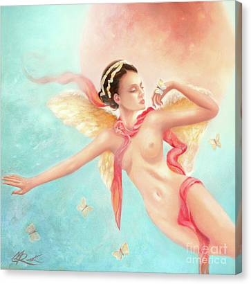 Canvas Print featuring the painting Rhapsody by Michael Rock