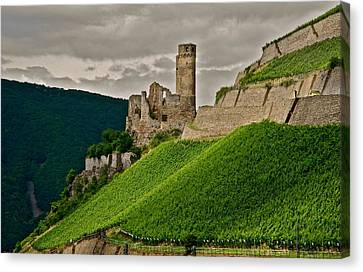 Canvas Print featuring the photograph Rhine River Medieval Castle by Kirsten Giving