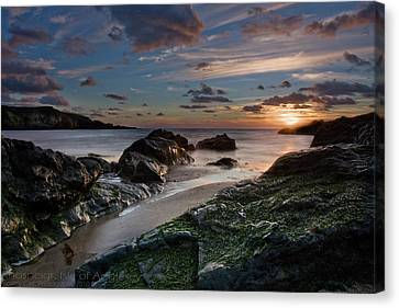 Canvas Print featuring the photograph Rhosneigr Sunset  by Beverly Cash